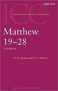 International Critical Commentary, Matthew
