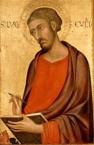 St. Luke the Evangelist by Simone Martini