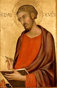 St. Luke the Evangelist by Simone Martini