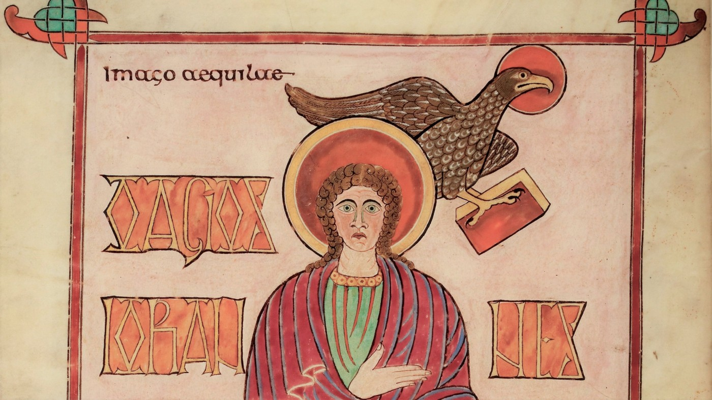 John the Evangelist, from the Lindesfarne Gospels