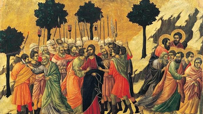 Arrest of Jesus, Duccio di Buoninsegna, ca 1310