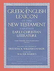 Danker's Greek Lexicon cover
