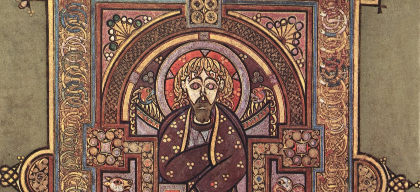 The evangelist Matthew from the Book of Kells