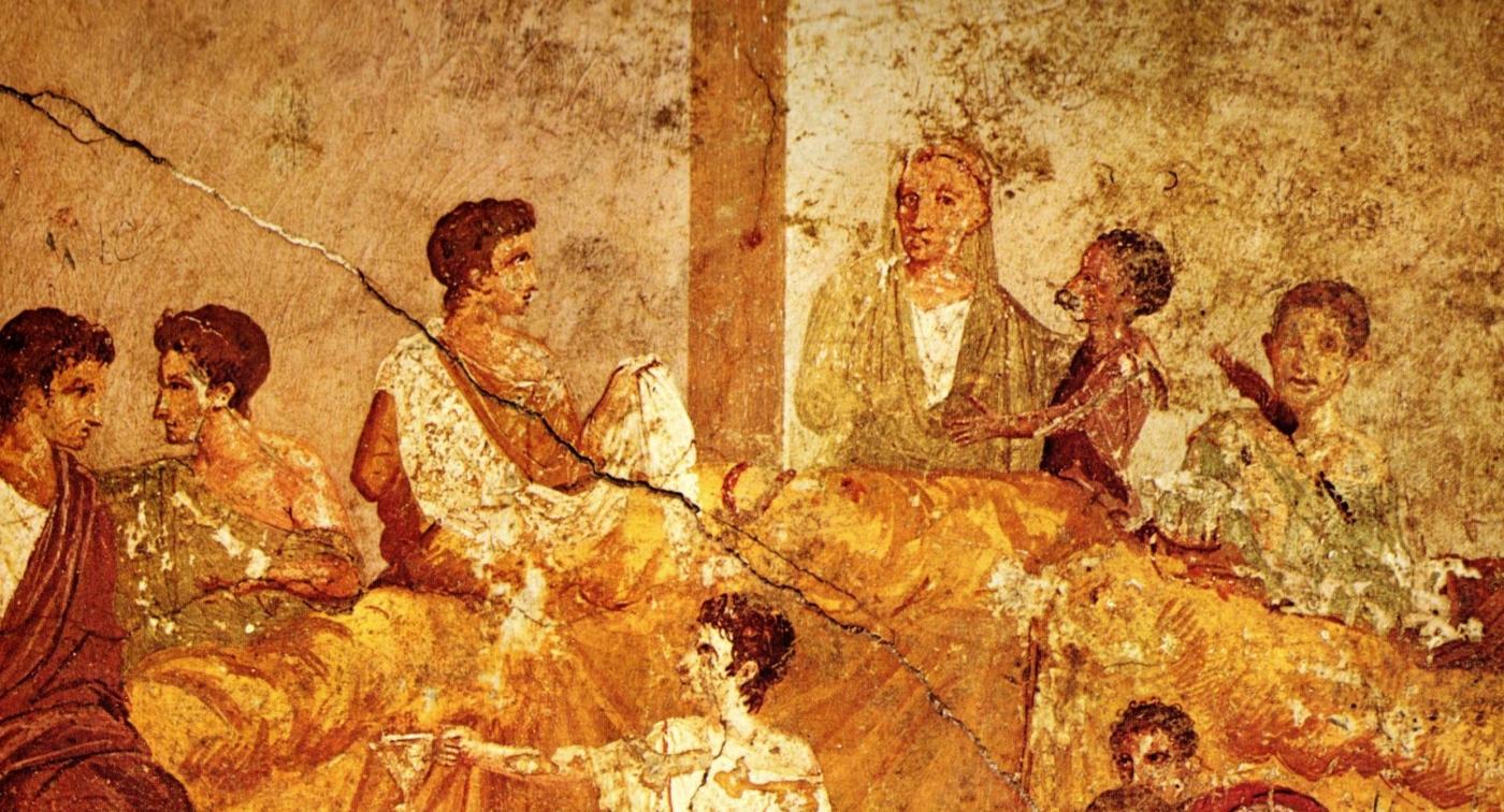 Banquet fresco from Pompeii